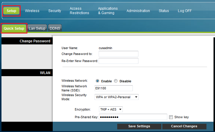 How to change your WiFi password on a Cisco Modem
