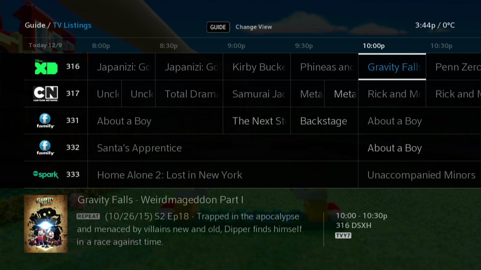 BlueSky TV - TV Guide Listings