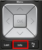 BlueSky TV Remote Control Info Button