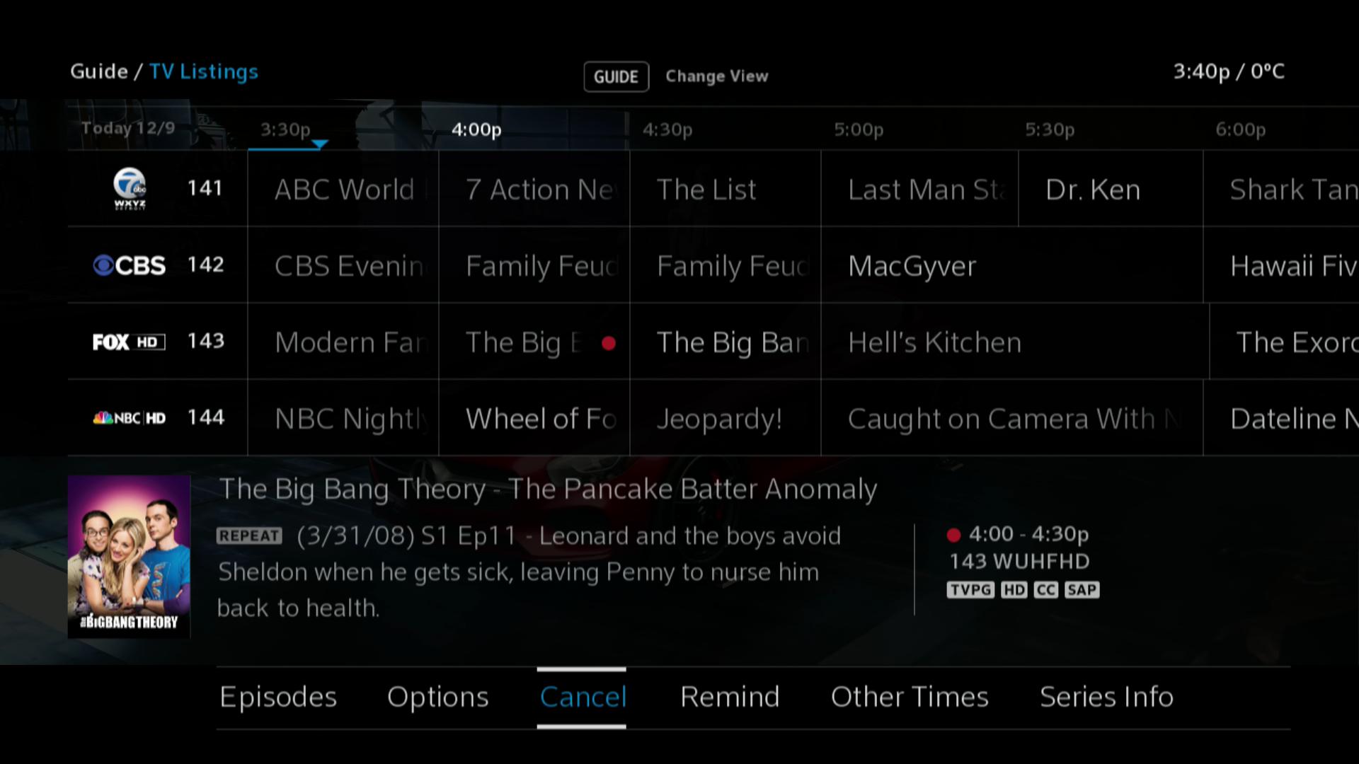 BlueCurve TV - TV Guide Listings
