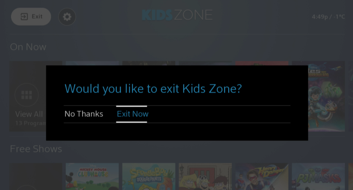 BlueCurve Exit Kids Zone