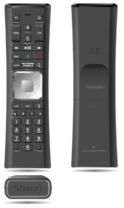 BlueCurve TV Remote Control - Front and Back