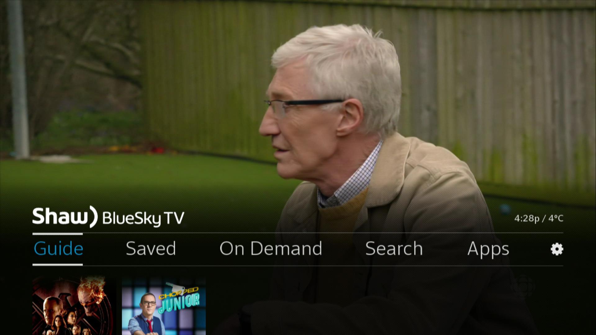 BlueSky TV > Menu > Guide