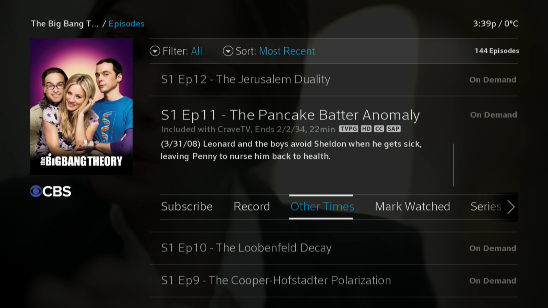 BlueCurve TV > Episode Guide > Other Times