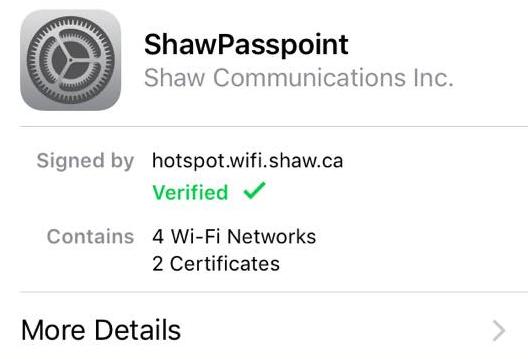 Shaw Passpoint