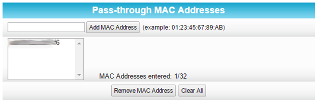 add mac address step 2 successful