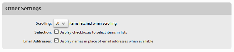 shaw webmail other settings