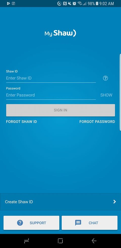How to download and sign into the My Shaw app