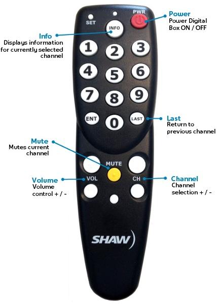 Shaw Transport Remote Control