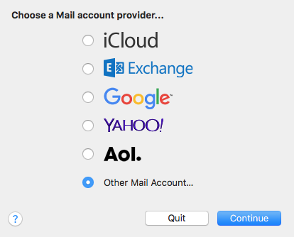How to set up email in Apple macOS Mail