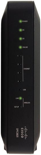 Hardware Information: Cisco DPC3825 Internet Modem