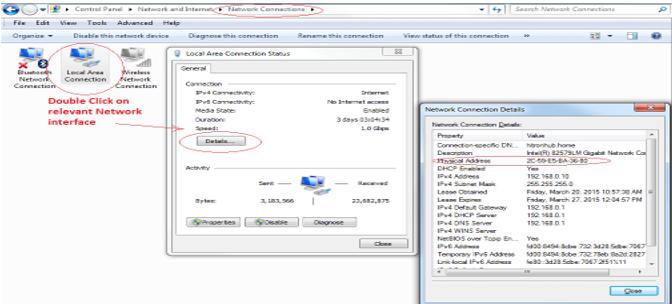 IP Passthrough > Network Connection Details