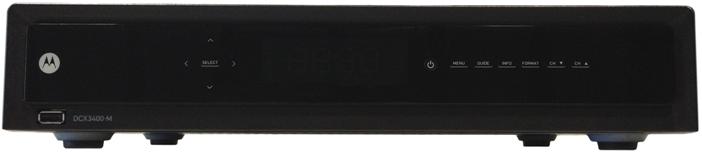 Motorola DCX 3400 - Digital Box (front)
