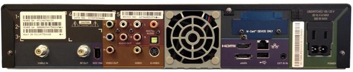 Motorola DCX 3400 Digital Box (back)