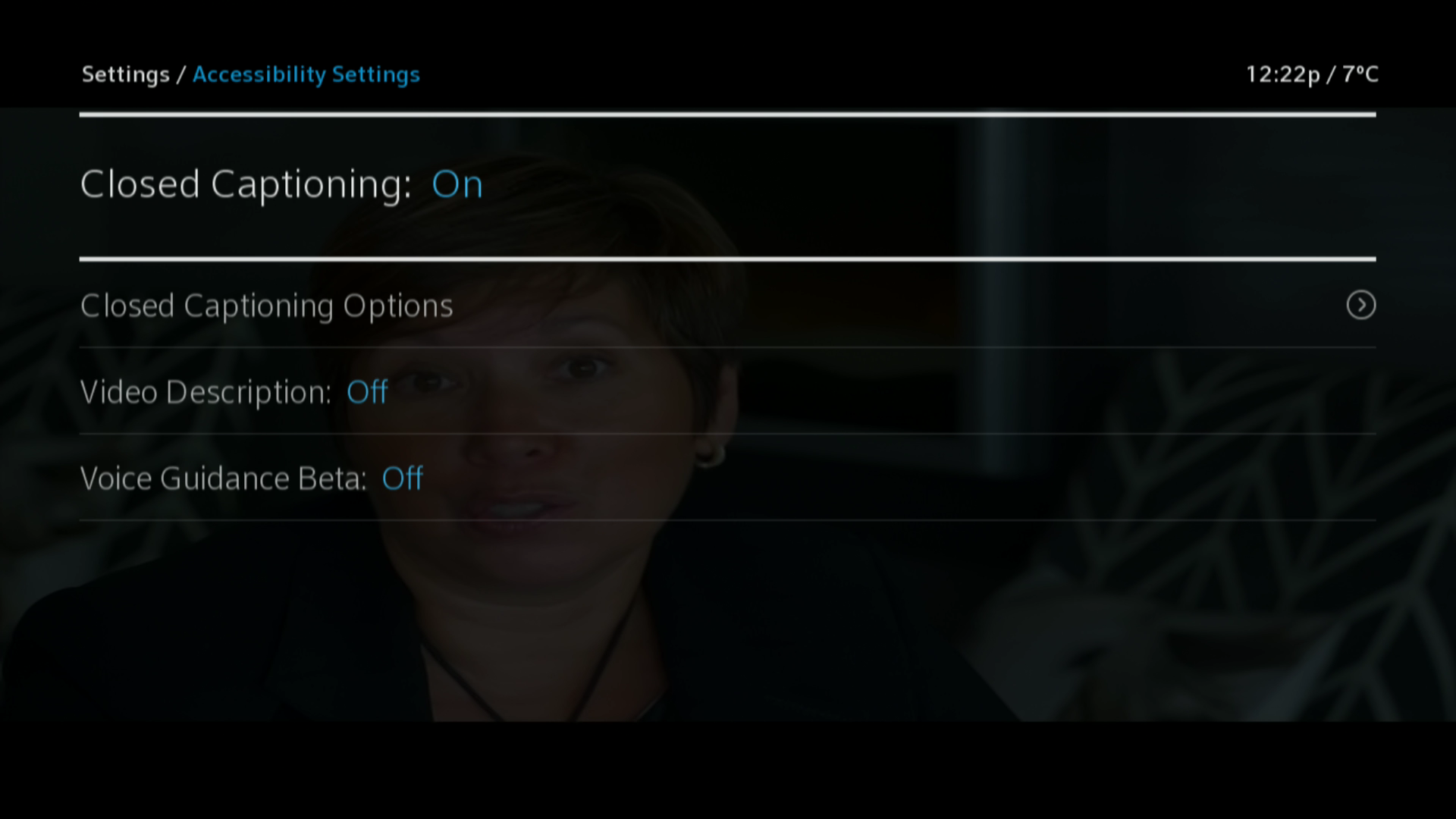 How to enable/disable Closed Captioning on your Shaw TV Box