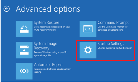Windows 8 > Troubleshoot > Advanced > Startup Settings