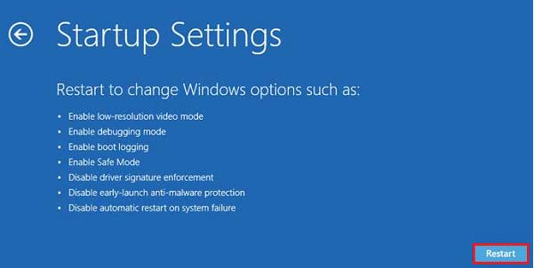 Windows 8 Restart