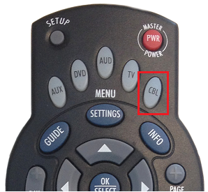 CBL button on a Shaw remote