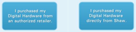 Shaw Digital Box Activation Options