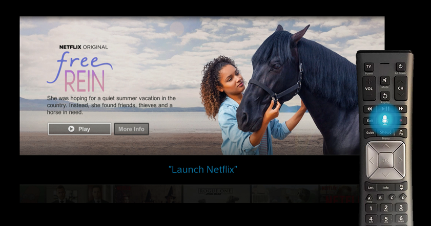 Launch Netflix on BlueCurve TV