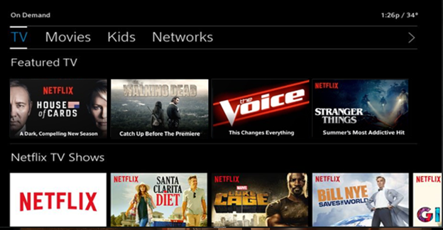 Netflix On Demand in BlueCurve TV