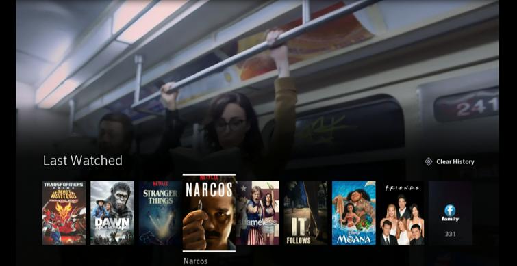 Netflix Last Watched Content in menu