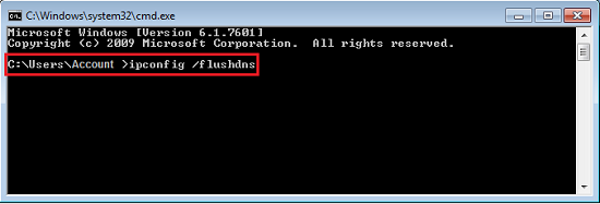 ipconfig flushdns Windows Command Prompt