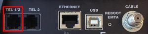 Motorola SBV5220 telephone ports Tel1/2
