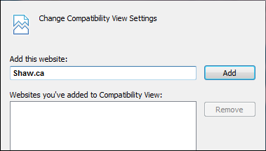 Change Compatibility View Settings