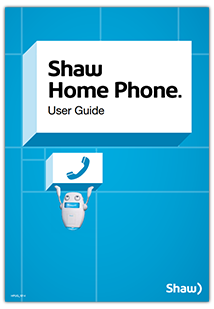 Shaw Home Phone User Guide