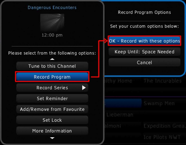 HD Guide PVR Schedule Recording