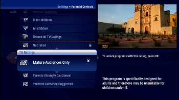 Parental Controls Locking Content by Rating