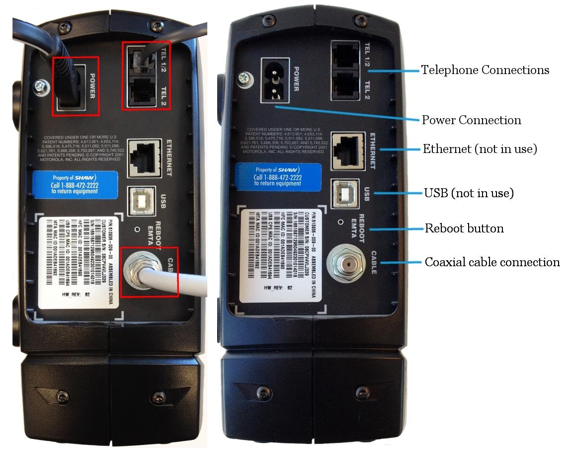 Motorola SBV5220 DPT Connections