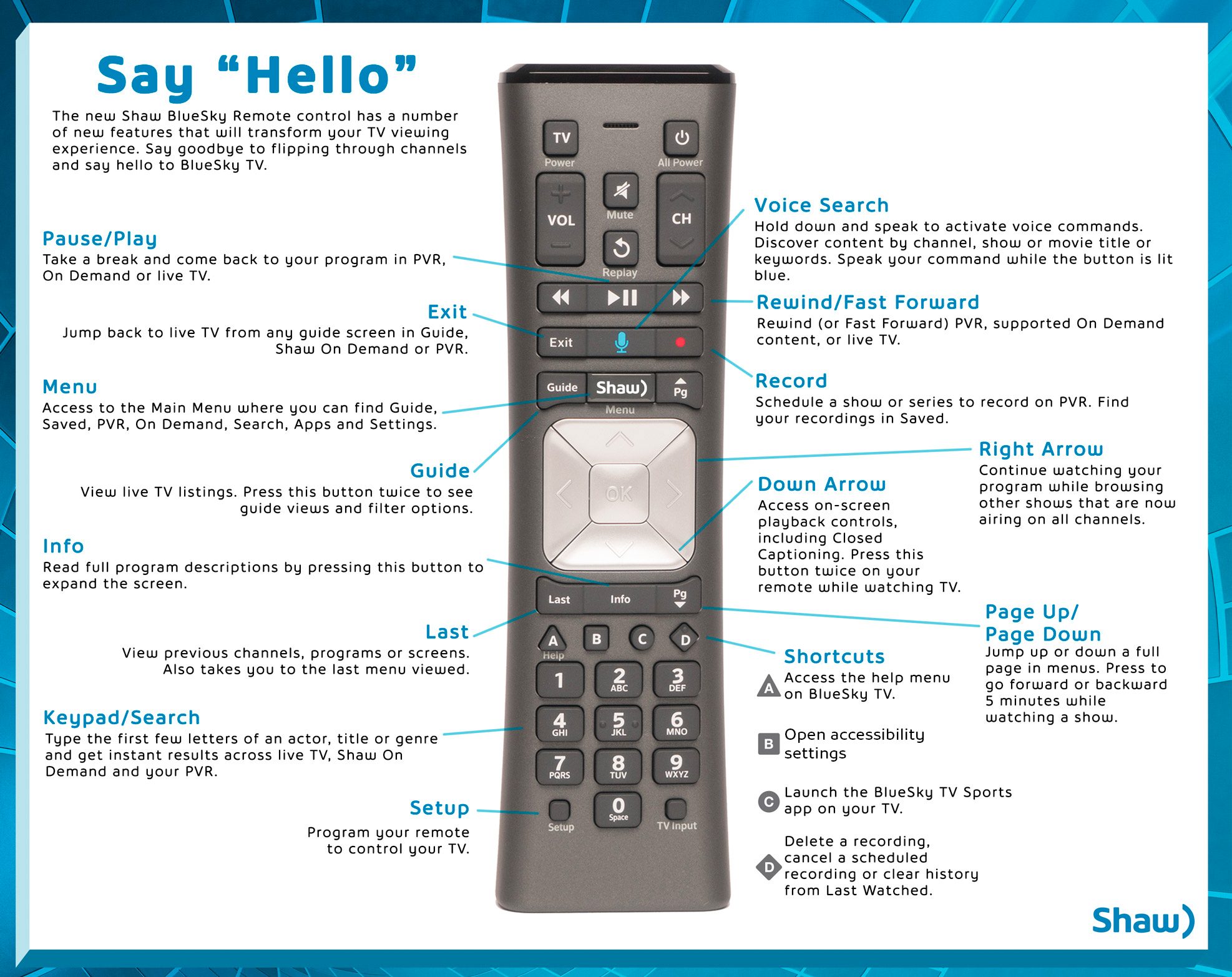 Say Hello to the BlueSky TV Remote