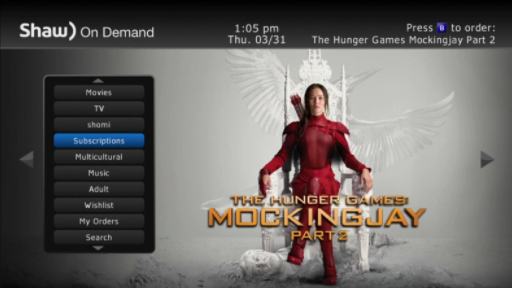 HD Guide - Shaw On Demand Movie Options