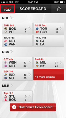 Overview of the TSN GO app