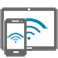 WiFi phone and tablet icon