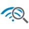WiFi magnifying glass icon