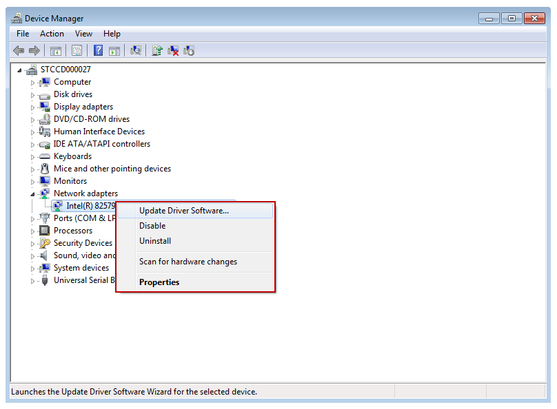 Windows 7 Device Manager Update