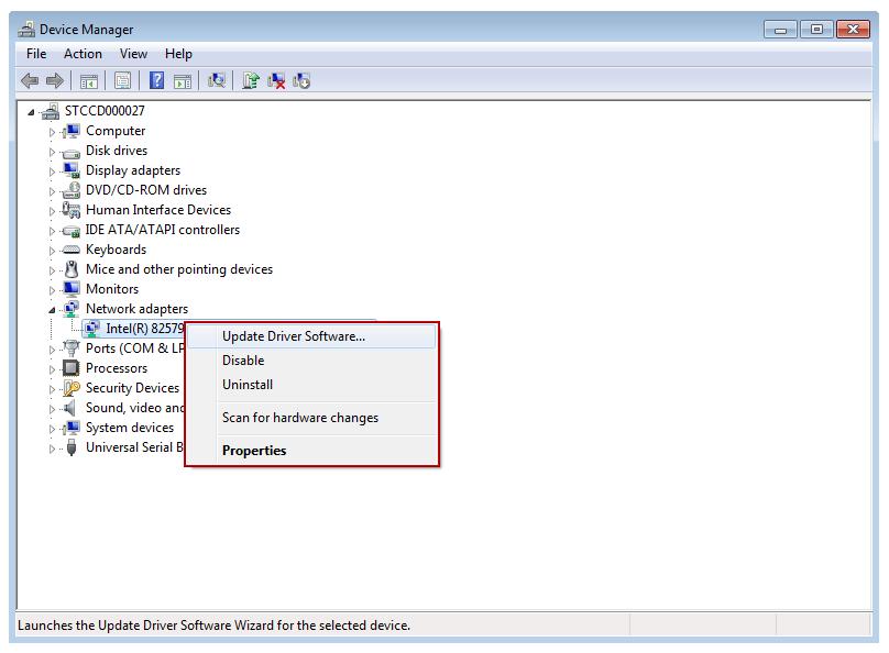Windows Vista Device Manager Update