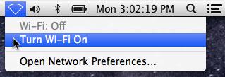 Mac OS X WiFi On