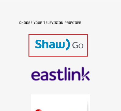 Select Shaw Go as your Television Provider