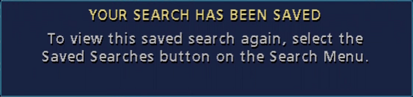 Classic Guide search has been saved
