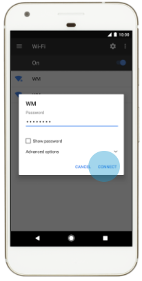 WiFi Network Passkey on Android