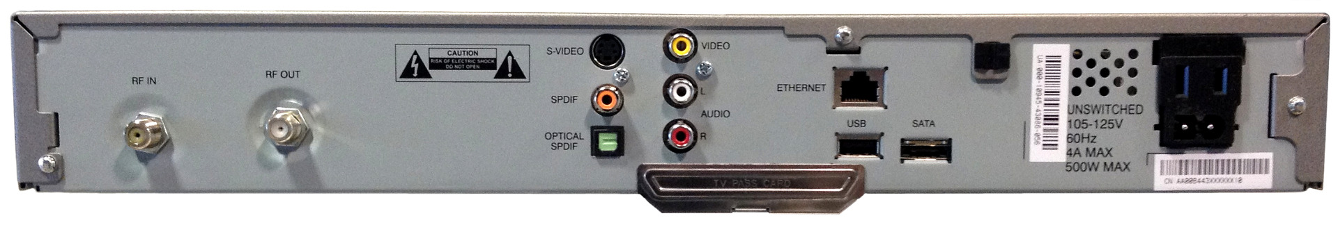 Motorola DCT3080 - Cable Box Rear