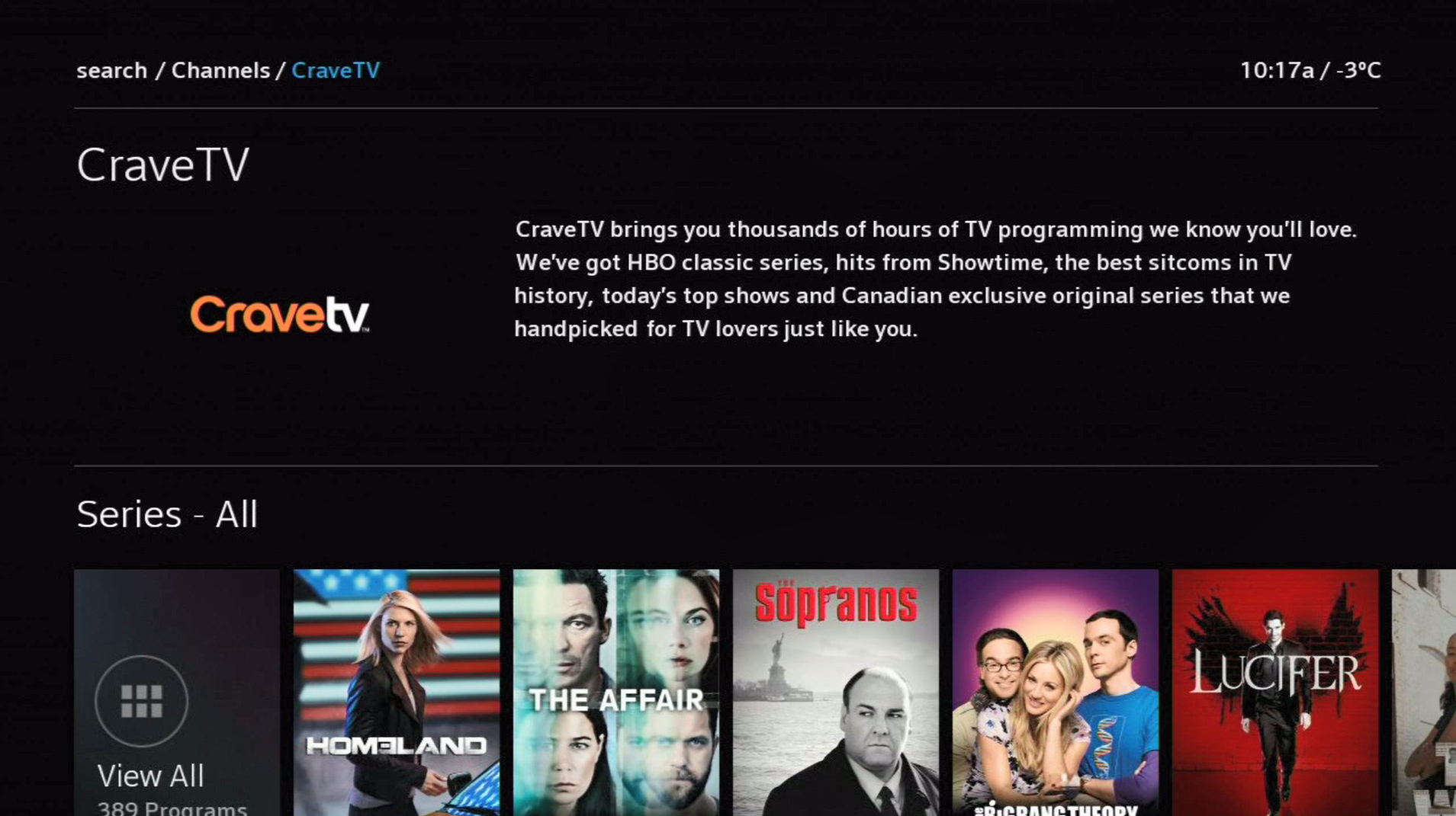 How to access Crave on BlueSky TV