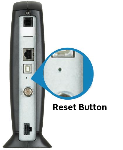 Pinhole reset for the Motorola SBV5120 Digital Phone Terminal (DPT)