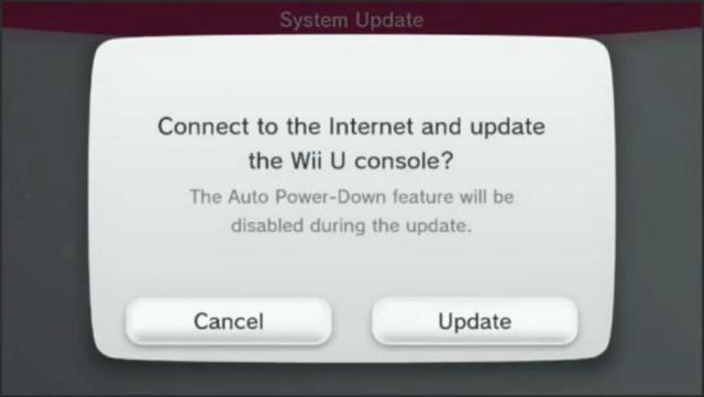 WiiU Update