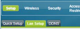 Cisco WiFi Modem Lan Setup