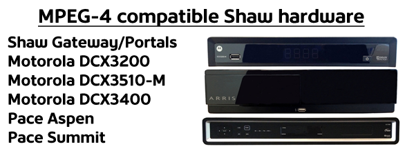 MPEG-4 Compatible Shaw Hardware
